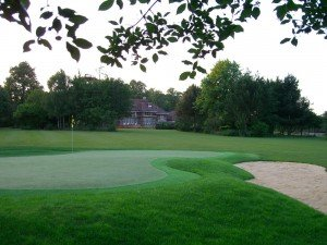 Artificial Putting Green with Bunker