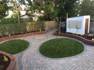 Paving, plants & lawns