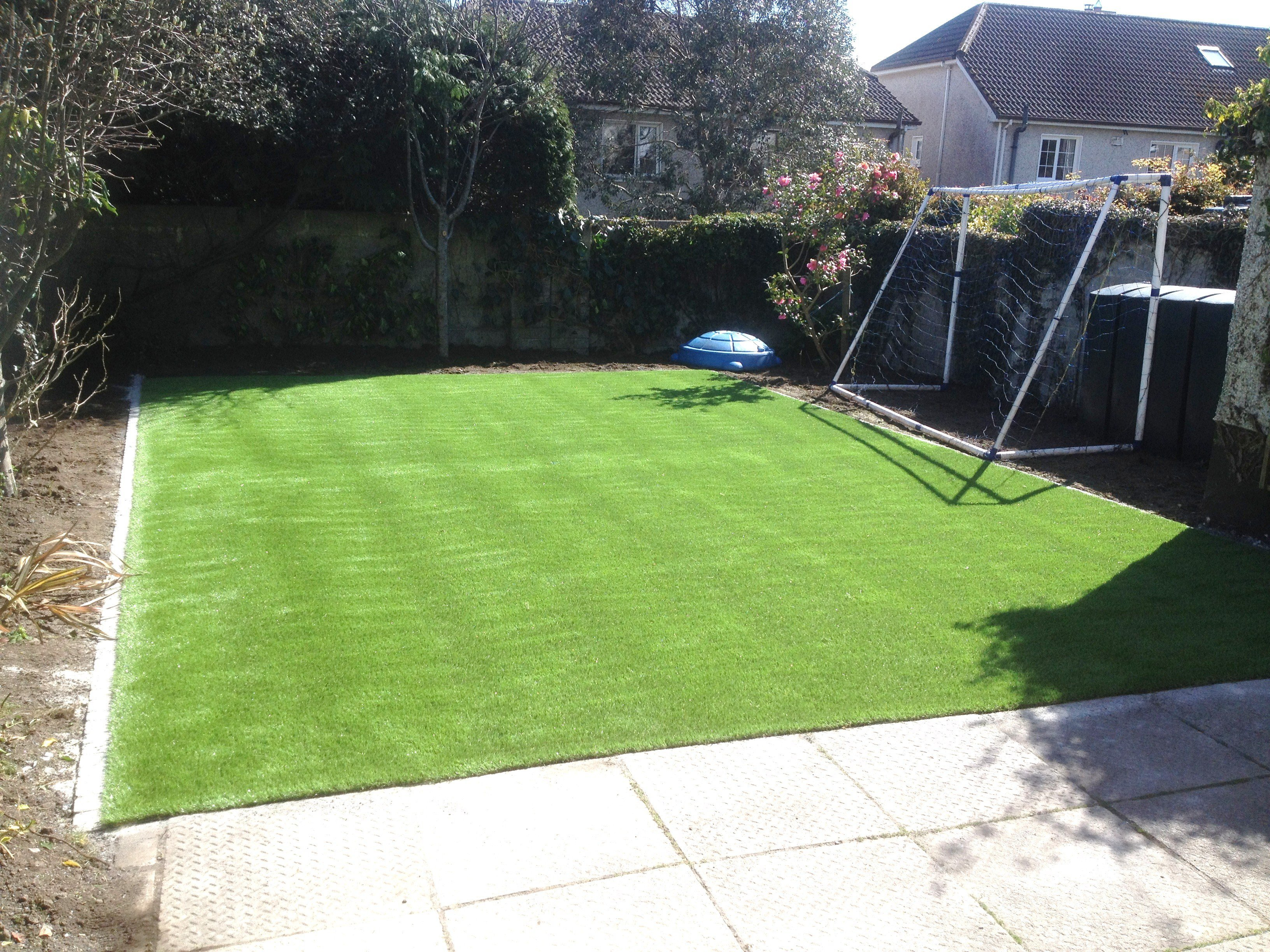 Testimonials from a customer with a new Artificial Grass Lawn Galway