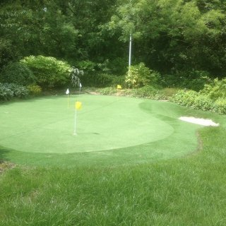 Artificial Grass Putting Green and Bunker